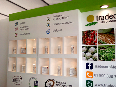Expo Stands Mexico : Tradecorp presents its new image in expo agro sinaloa mexico