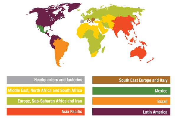 Tradecorp regions