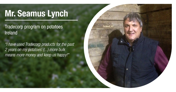 Mr. Seamus Lynch, from Ireland, has tested Tradecorp program in potatoes
